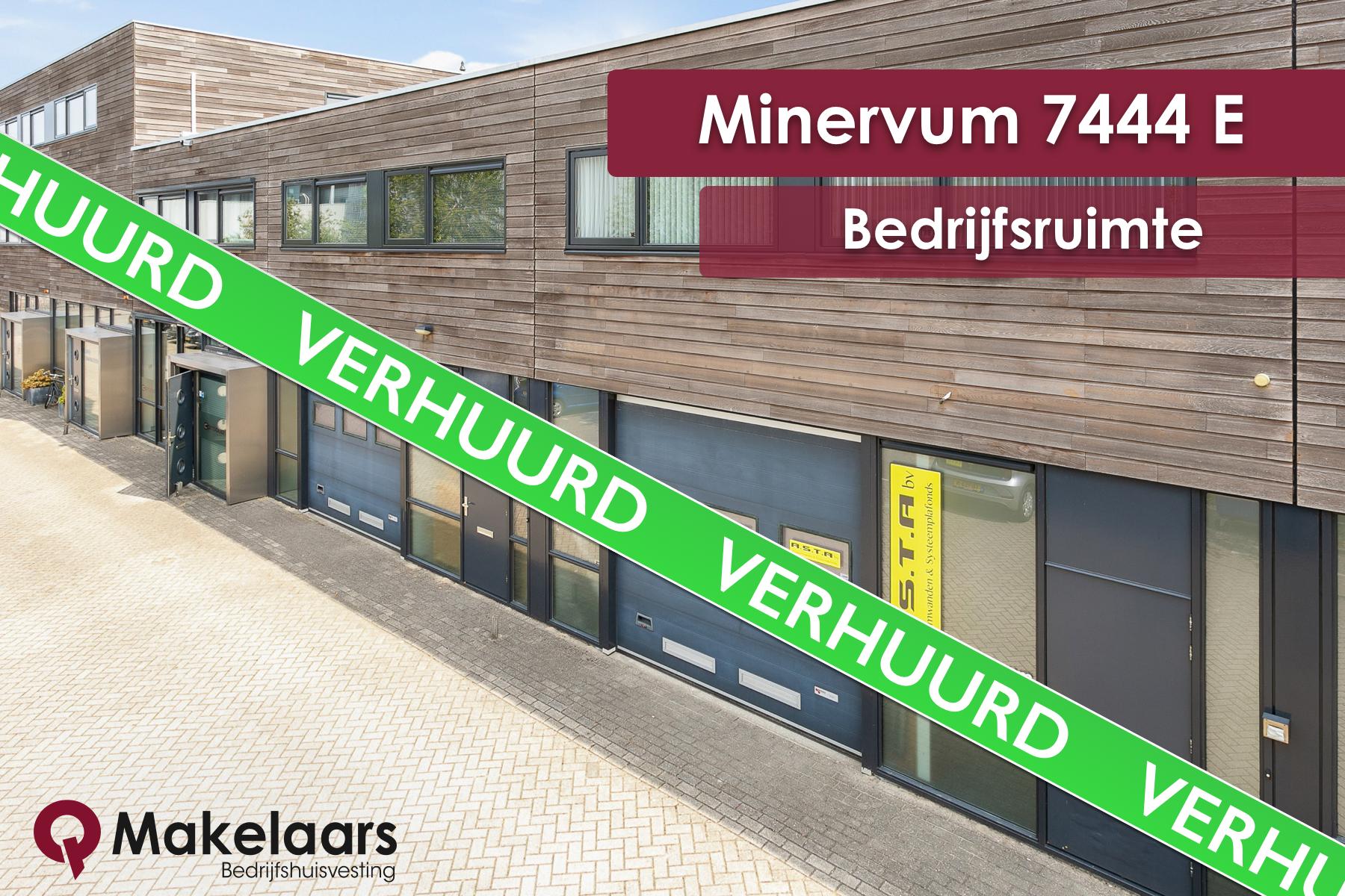 Minervum 7444 E verhuurd aan Premium Trade BV